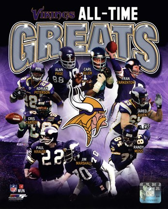 Framed Minnesota Vikings All-Time Greats Composite Print