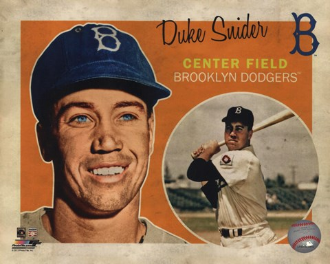 Framed Duke Snider 2013 Studio Plus Print
