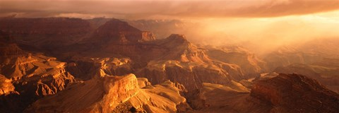 Framed Sunrise View From Hopi Point Grand Canyon AZ Print