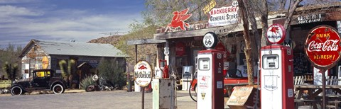 Framed Gas Station on Route 66, Hackberry, Arizona Print