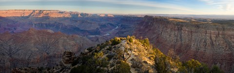 Framed High angle view of Desert Point, South Rim, Grand Canyon, Grand Canyon National Park, Arizona, USA Print