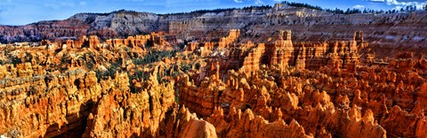 Framed Hoodoo rock formations in Bryce Canyon National Park, Utah, USA Print