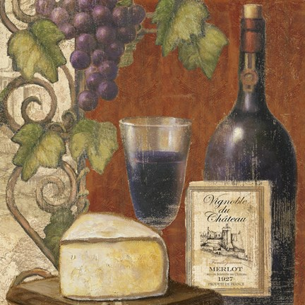 Framed Wine and Cheese Tasting 3 Print