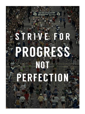 Framed Strive for Progress Print