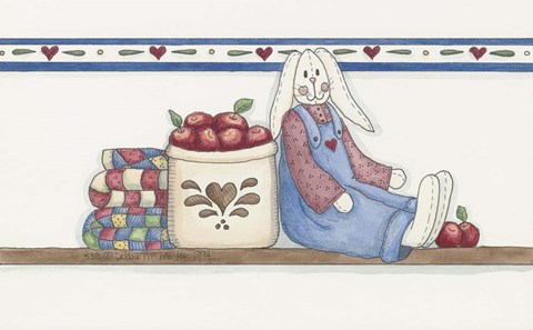 Framed Apple Bunny 2 Print