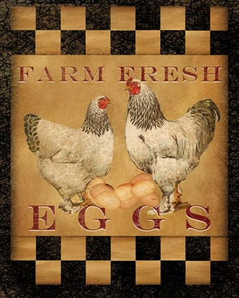 Framed Farm Fresh Eggs I Print