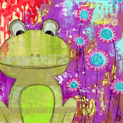 Framed Whimsical Frog Print