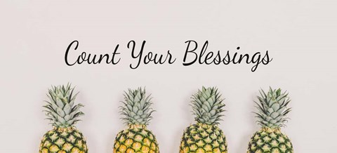 Framed Count Your Blessings Pineapples Print