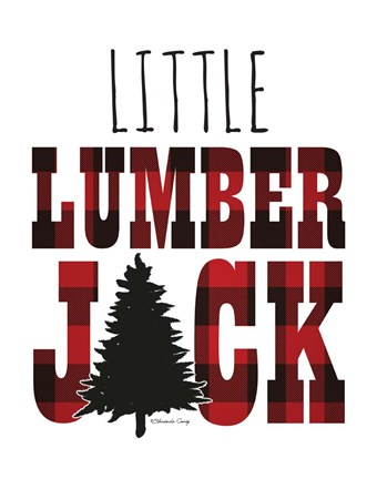 Framed Little Lumberjack Print
