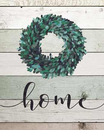 Framed Home Wreath II Print