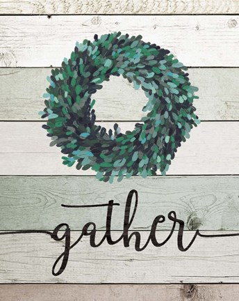 Framed Gather Wreath II Print
