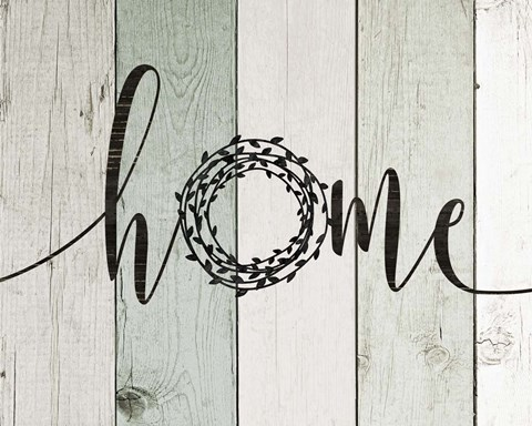 Framed Home Rustic Wreath II Print