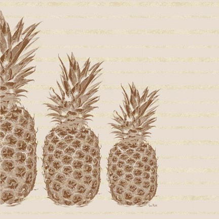 Framed Pineapples - Left Three Print