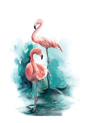 Framed Pink Flamingo Print