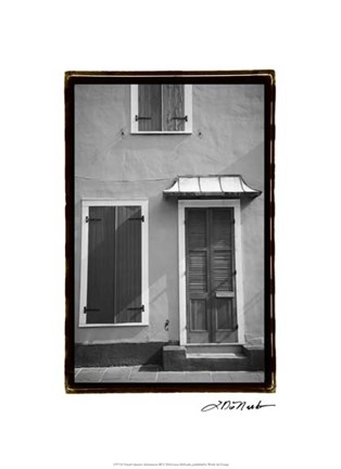 Framed French Quarter Architecture III Print