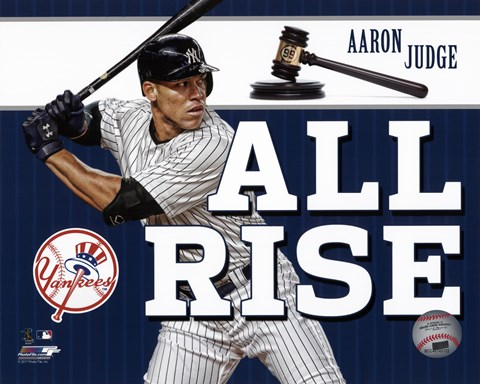 "Framed Aaron Judge """"All Rise"""" Print"