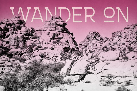 Framed Ombre Adventure IV Wander On Print
