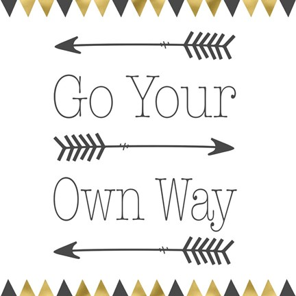 Framed Go Your Own Way Square Print
