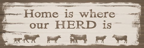 Framed Home is Where Our Herd Is Print