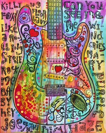 Framed Jimmies Guitar Print