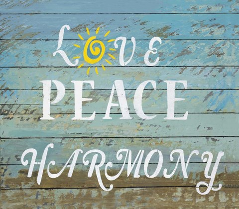 Framed Love Peace Harmony Print