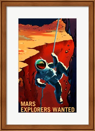 Framed Explorers Wanted Print