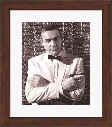 Framed Sean Connery Print