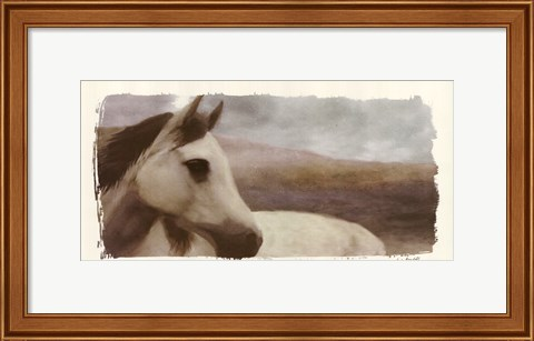 Framed Horse On The Hill Print