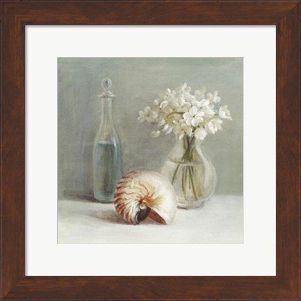 Framed White Flower Spa Print