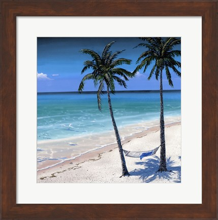 Framed Palm island I Print