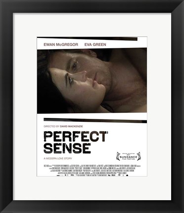 Framed Perfect Sense couple laying Print