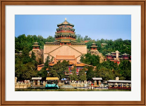 Framed Pavilion of Buddhist Fragrance, at the Summer Palace, Beijing, China Print