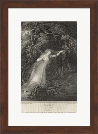 Framed Hamlet - drawing Print