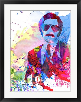 Framed Anchorman Watercolor 2 Print