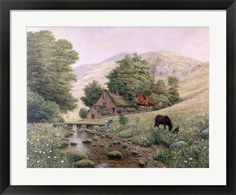 Framed Grazing Print