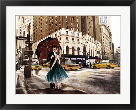 Framed Kiss in Park Avenue Print
