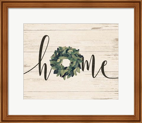 Framed Home Wreath Print