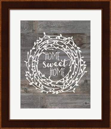 Framed Rustic Home Sweet Home Print