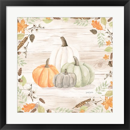 Framed Autumn Offering I Light Print