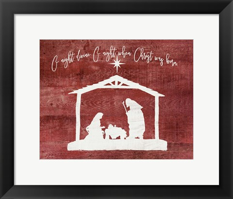 Framed O Holy Night - Manger Print