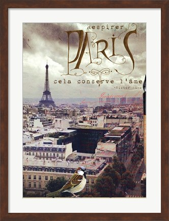 Framed Breathe Paris Print