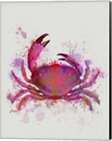 Crab 1 Pink Rainbow Splash Fine-Art Print
