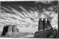 Three Gossips, Arches National Park, Utah (BW) Fine-Art Print