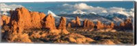 Red Rock Formations Of Windows Section, Arches National Park Fine-Art Print