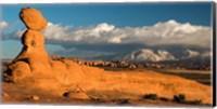 Sunset On A Balanced Rock Monolith, Arches National Park Fine-Art Print