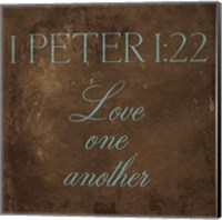Love One Another Brown Fine-Art Print