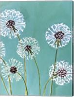 Dandelions on Aqua Fine-Art Print