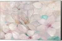 Apple Blossoms Teal Fine-Art Print