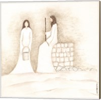 Jesus Talks with Woman at Well Fine-Art Print