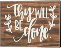 Thy Will Be Done. Fine-Art Print